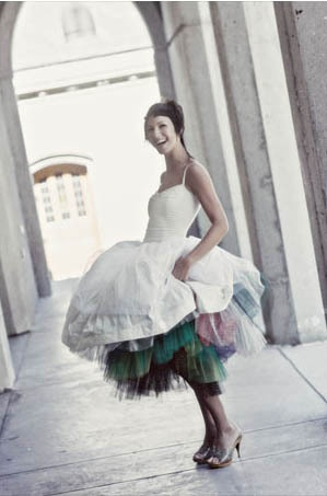 BrideWedding Dressses, Style, Petticoats, Blue, Rainbows, Brides, Beautiful Dresses, The Dresses, Colors Tulle