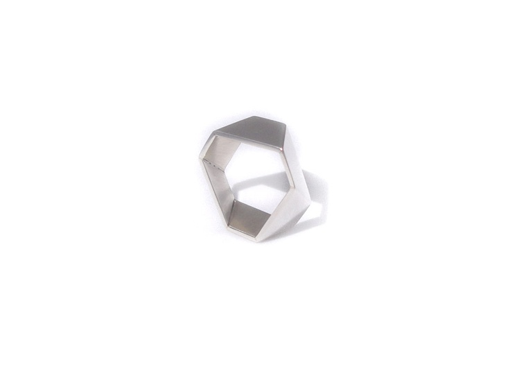 Diamond Cut Ring - Sterling Silver