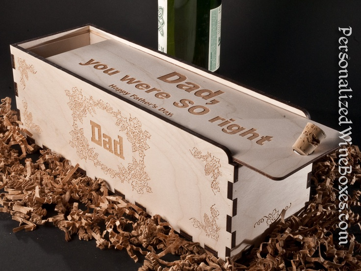 Dad, you were so right...  plan ahead for an impressive Father's Day wine gift and presentation
