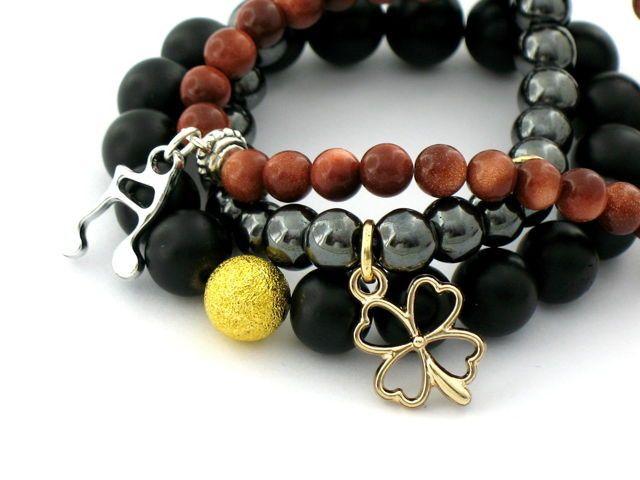 Zestaw bransoletek z kamieniami półszlachetnymi Kayan ado 99,00 zł - Ręcznie robiona biżuteria \ Walentynkowa biżuteria Ręcznie robiona biżuteria \ Biżuteria na prezent \ Bransoletki \ Kayan ado Zestawy z Kamieniami Na Dzień Kobiet \ Bransoletki Noc Zakupów - MarMon.com.pl