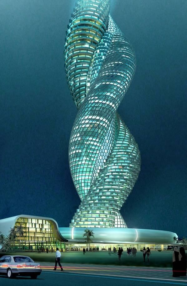 Interwined Infosys Building In Kuwait