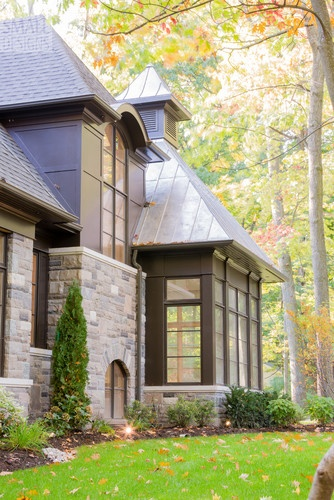 Traditional Home Exterior Bay Window