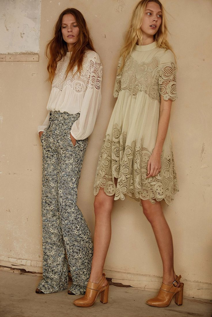 I am constantly on the lookout for lace blouses like this and the dress is just a bonus! Chloé Pre-Fall 2015: