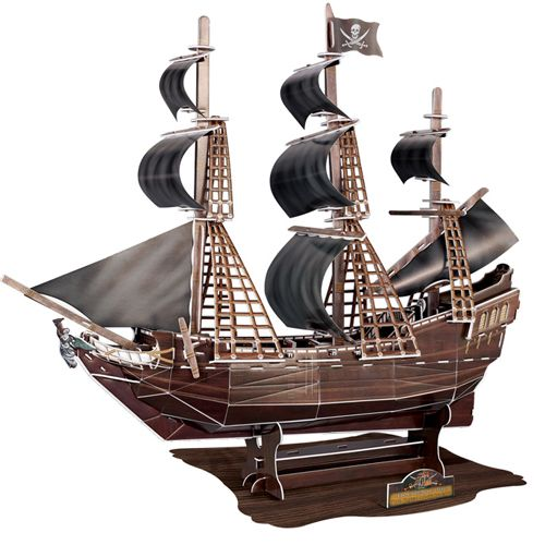 Pirate Ship The Black Pearl LARGE 3D Puzzle Jigsaw www.greenanttoys.com.au