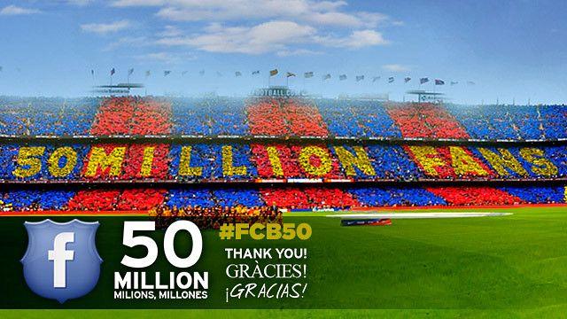 Facebook: 50 Million | 50 Milions | 50 Millones