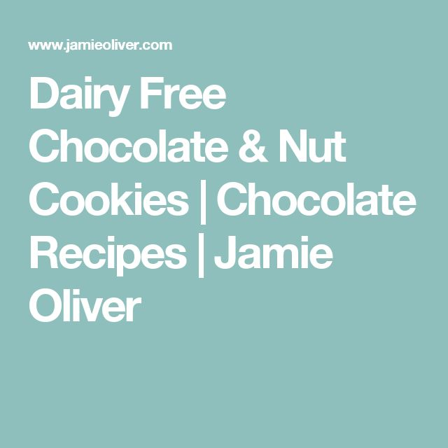 Dairy Free Chocolate & Nut Cookies   Chocolate Recipes   Jamie Oliver