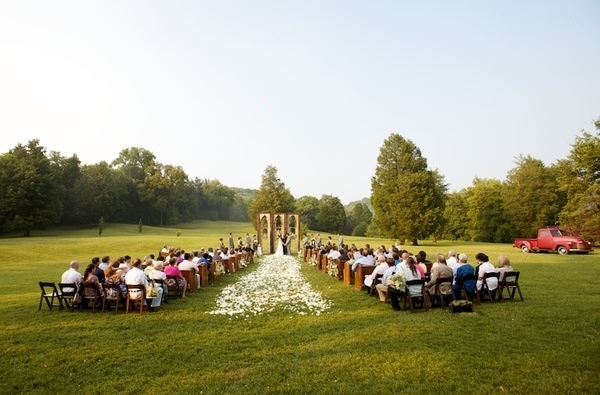 Simple Field Wedding