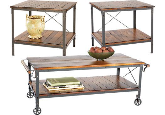 Shop for a Alpine Villa 3 Pc Table Set at Rooms To Go. Find Table Sets that will look great in your home and complement the rest of your furniture. #iSofa #roomstogo