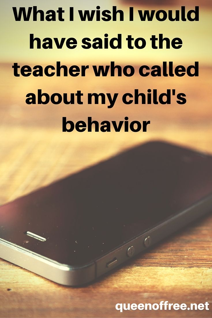 I simply could not get the words out. Caught off guard by the teacher's call, it was not until hours later that I could voice my heart for my child and that teacher, too.