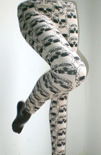 Leggings motivo teschi