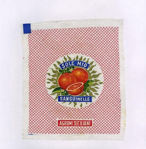 Involucro agrumi siciliani: arance  Sanguinelle - Sole mio