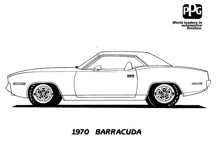 pin old car coloring - photo #7