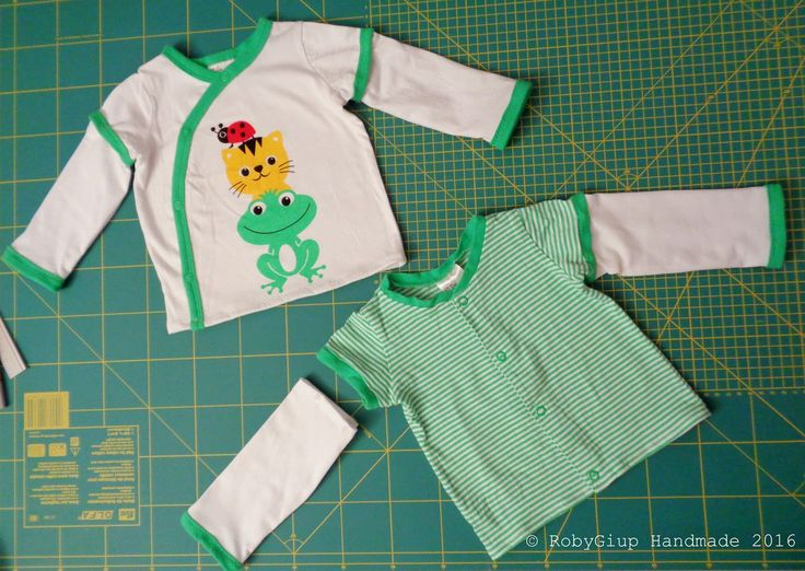 Tutorial: da body a maglietta con maniche lunghe staccabili - Tutorial: from onesie to t-shirt with detachable long sleeves - by RobyGiup handmade #tutorial #recycle #sewing #baby