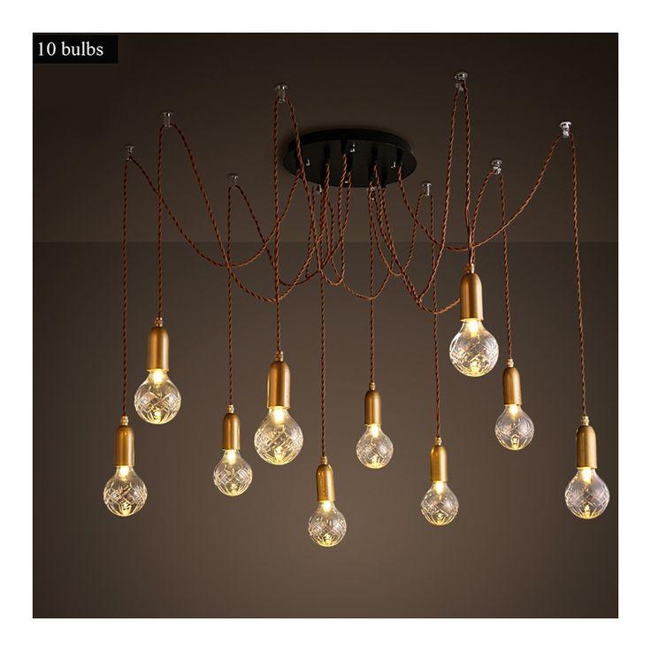 Iluminación - Luces de techo - Lámparas colgantes - Moderna Simple moda Chandelier de vidrio hierro forjado