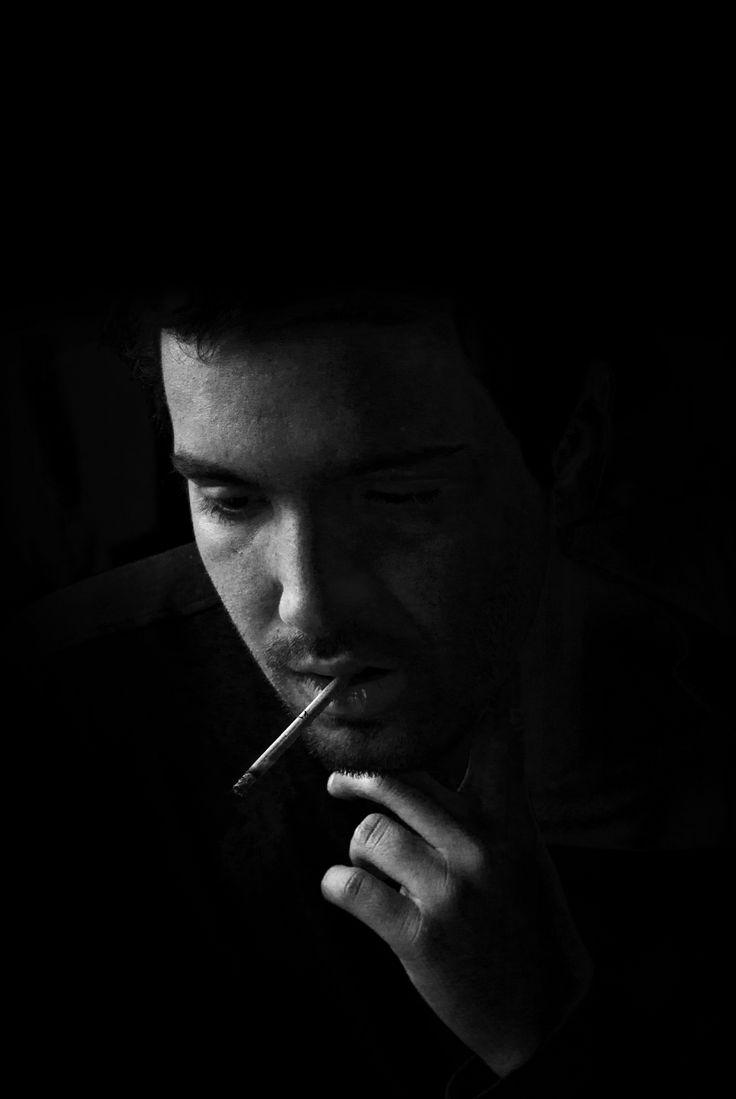 Alessandro #b/w #cigarette #portrait