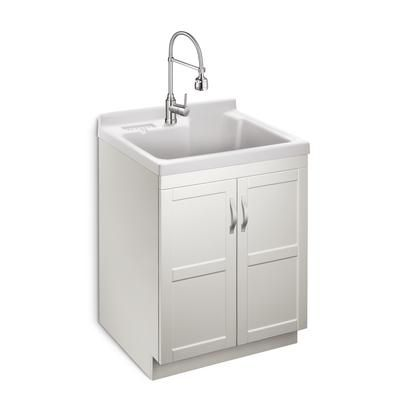 Presenza Deluxe Utility Sink And Storage Cabinet : Laundry cabinets, All in one and Home depot on Pinterest