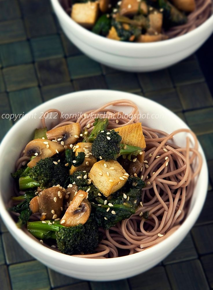 Soba z warzywami i miso | kornik w kuchni