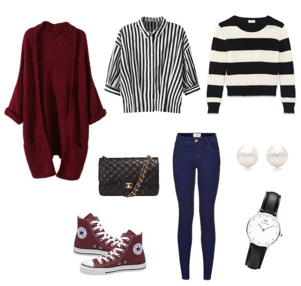 Outfit per andare al cinema, possibilmente usando converse bordeaux   ask.fm/Myoutfitl