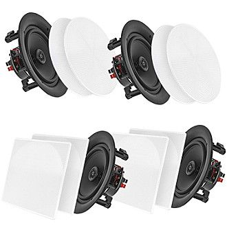 """Pyle Home 10"""" Bluetooth Ceiling/Wall Speakers, 4 Pack"""
