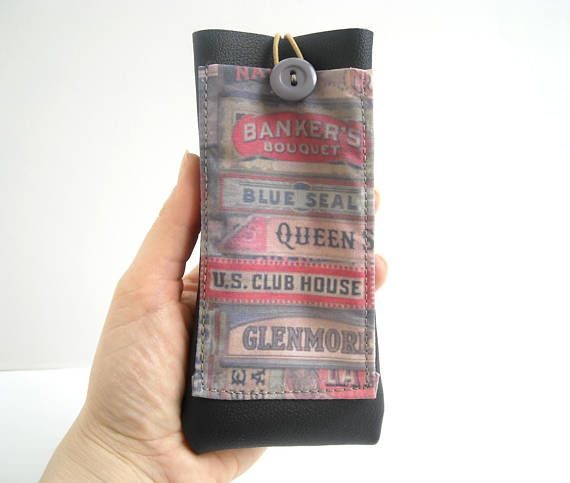 Cigar box fabric on necklace leather glasses holder with lanyard  #eyeglasscase #eyewear