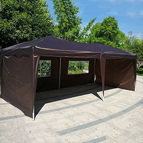 Introducing FCH 10x20 EZ Pop Up Canopy Tent Outdoor Patio Party CAR Canopy Tent Wedding Outdoor Tent Canopy Heavy duty Gazebo Wcarry Bag DARK COFFEE. Great product and follow us for more updates!