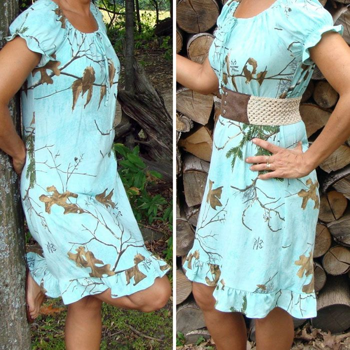 Teal Camo Dress made with Realtree Xtra