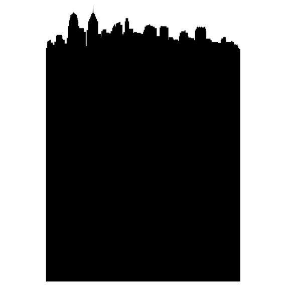 CUSTOM ORDER Philadelphia Skyline Chalkboard Wall by WallsNeedLove