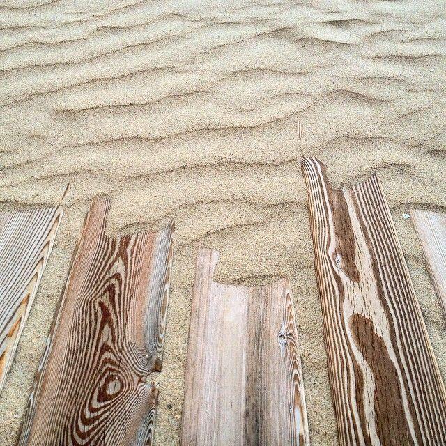 Wood & sand