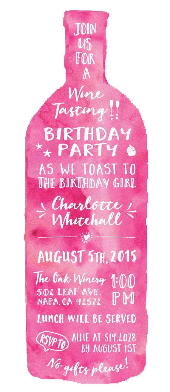 Wine Tasting Theme Adult Womenu0027s Birthday Party