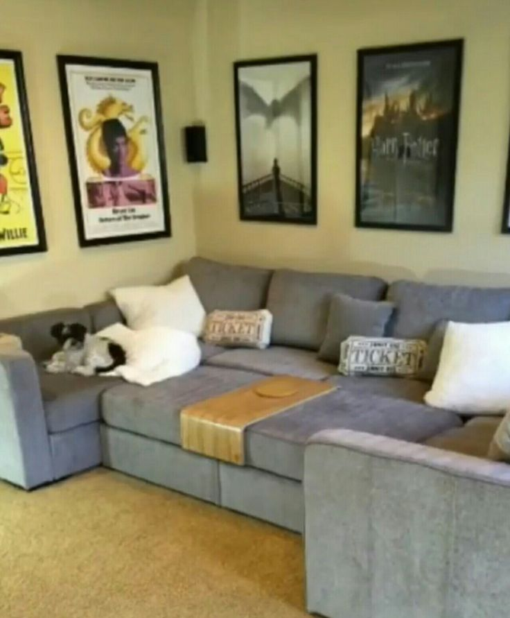 Home Theatre Lovesac Couch Movie Ticket Stub Throw Pillows