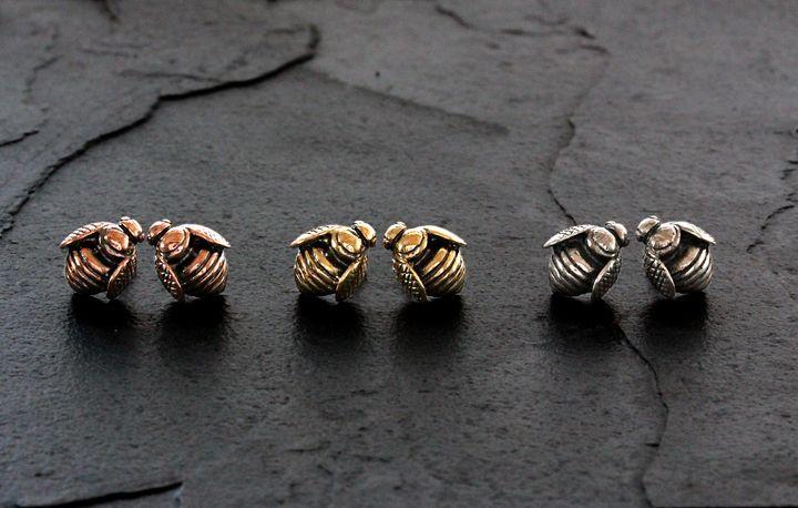 Rose Gold African Honey Bee earrings