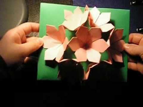 Pop up paper flower card vatozozdevelopment pop up paper flower card 19 best pop up cards mechanical cards images on pinterest paper pop up paper flower card mightylinksfo