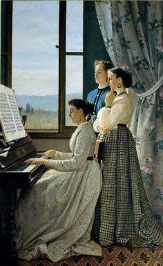 Chant de l'étourneau - 1867 - Silvestro Lega, -  FLORENCE Palais Pitti, Galleria d'Arte Moderna