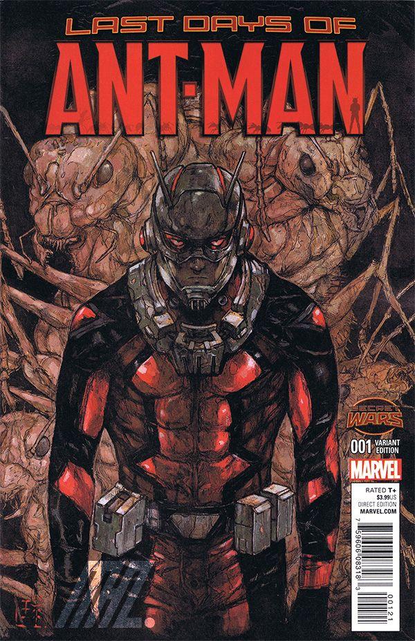映画の日本公開も間近に迫るマーベルコミックスヒーロー『アントマン』! コミック本誌のバリアント(バージョン違い)カバーアートを林田球が執筆!! ※表紙以外の内容は通常バージョン(原語版アメリカンコミッ