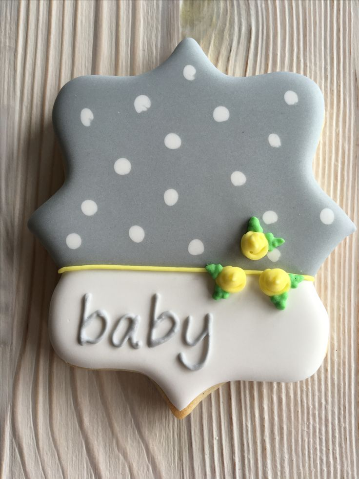 Baby shower cookies by Dyan