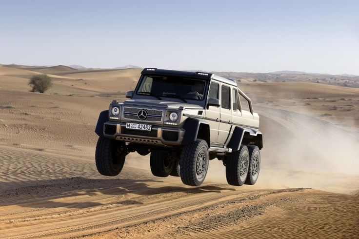 6 Wheels of Fury. The Mercedes Benz G63 AMG 6x6. When you wanna leave the UNIMOG at home but still go anywhere.