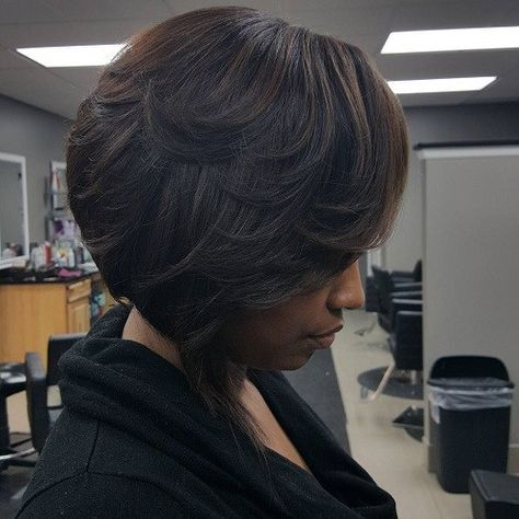 black short layered haircuts best 25 layered bob ideas on bob 4360 | cf33d8844b07b3622589eb05210b5ad7 black bob hairstyles permed hairstyles