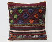 kilim pillow 18 tapestry pillow cover boho bedroom chair pillow case large floor cushion urban throw pillow ethnic rug bed pillow sham 28009