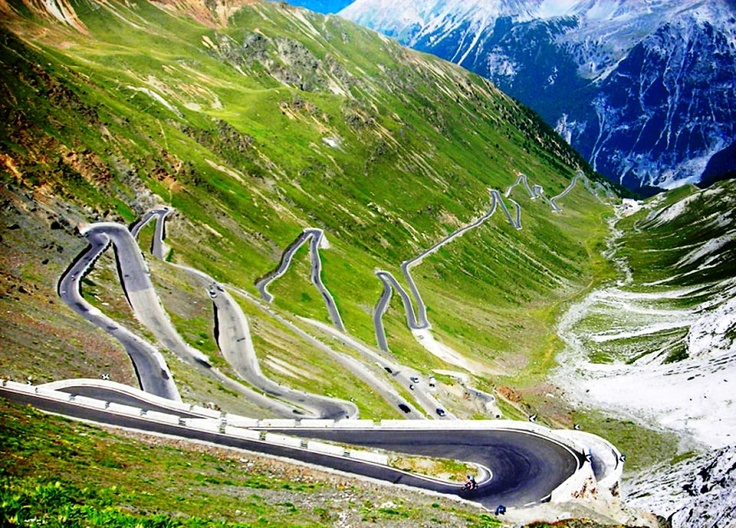 GrossGlockner Pass in the Austrian Alps. We have driven up this road, but beware of the motorbikes as they love this road also.