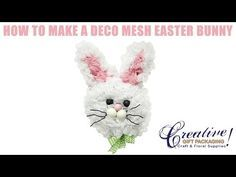 How to Make a Deco Mesh Easter Bunny using a new technique - YouTube