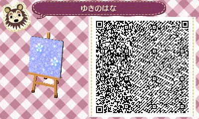 Animal Crossing QR Code blog  Christmas snow & present, candle design set Tile#4