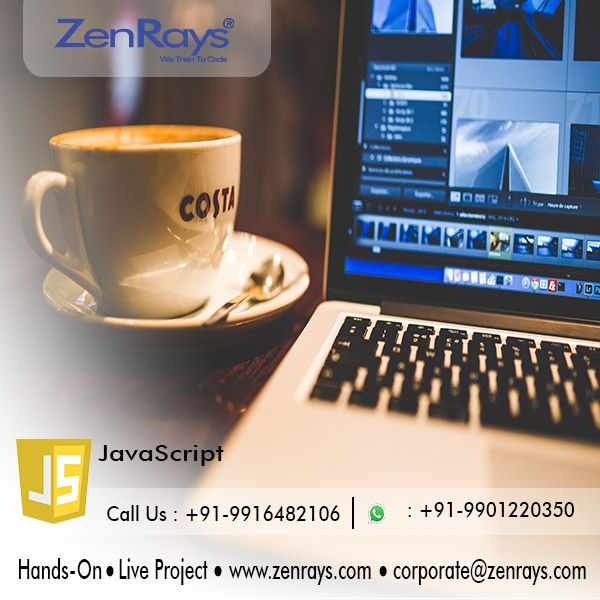 We offer the best JavaScript Training in Bangalore. Join our Hands-on Training and work on JavaScript Live Project in Bangalore. We have JavaScript Training in BTM Layout and Koramangala.  Call +91 9916482106, WhatsApp +91 9901220350, Write to corporate@zenrays.com.  Check out course contents at http://zenrays.com/oops-javascript-training