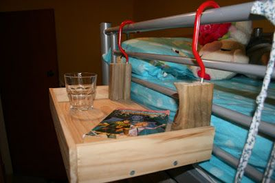 """fun and clever use of scraps to fix a need! """" Behold the """"Flying Night Stand"""" """""""