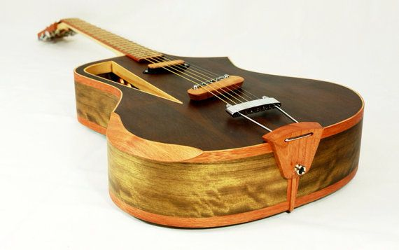 "Electro acoustic guitar Handmade Luthier fanned fret ""Raulo"" on Etsy, $1,950.00"
