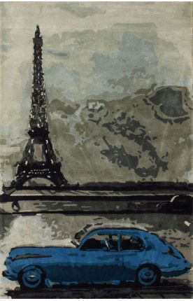 Marquis Paris Eiffel Tower Grey Rug | Contemporary Rugs