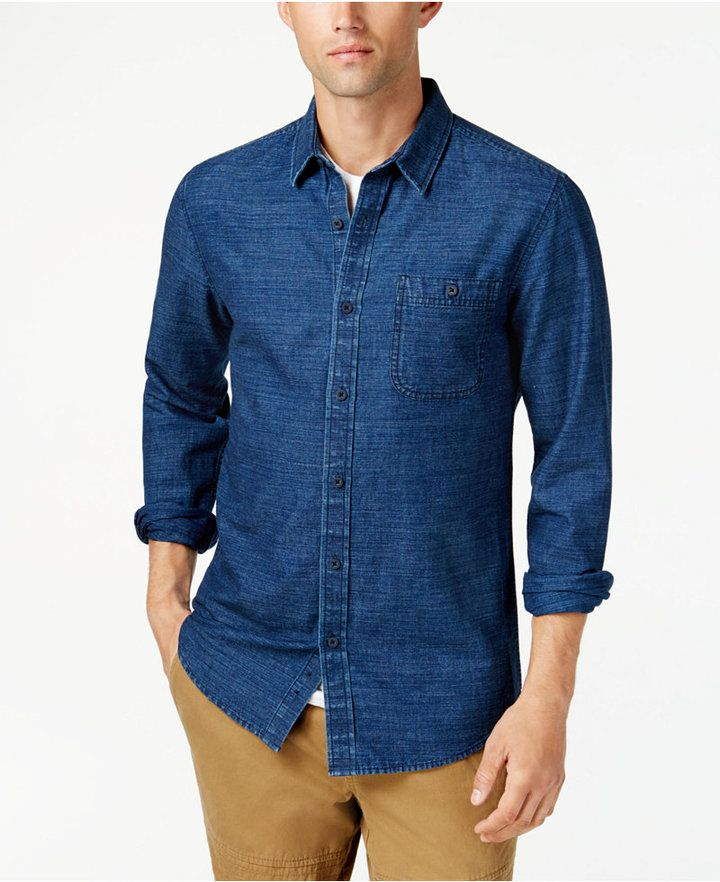American Rag Men's Chambray Shirt, Created for Macy's