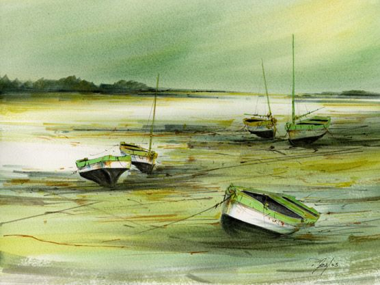 AFFICHE 2005 - aquarelles philippe merias