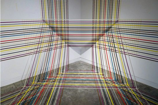 Rebecca Ward's Intricate Tape Installations | Beautiful/Decay Artist & Design