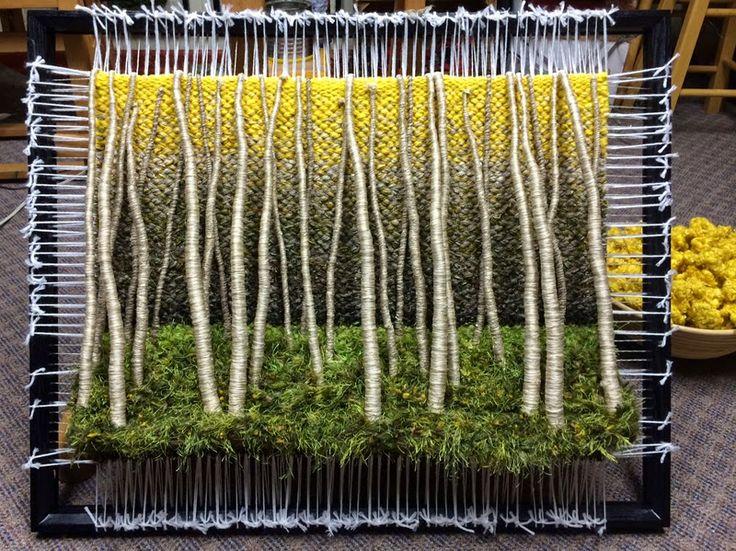 Dimensional Weaving - Martina Celerin 3D fiber art: Aspens, ants, and evil monkeys!