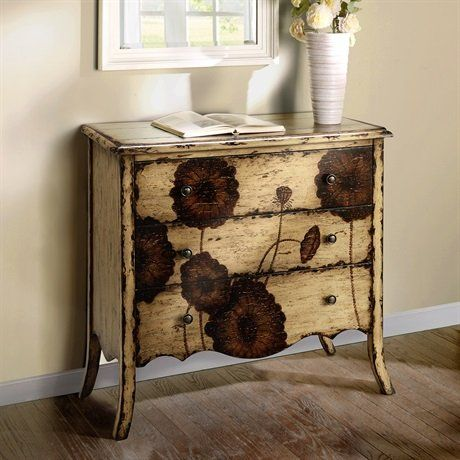 Madison Park Poppy Chest. Features:  Hand Painted. Color/Finish:  . Storage  ChestVintage ...